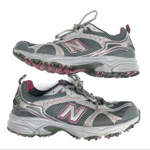 New Balance Gray and Pink WT461RP Trail Sneakers
